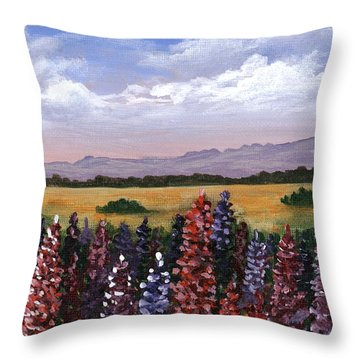 Throw Pillow featuring the painting Colorful Afternoon by Anastasiya Malakhova