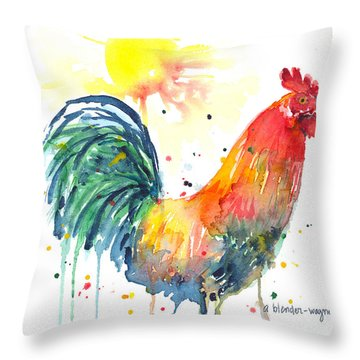 Colorful Alarm Clock Throw Pillow by Arline Wagner