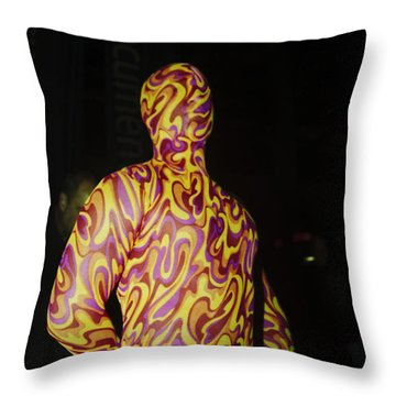 Colorful Anonymous Form Throw Pillow