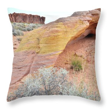 Throw Pillow featuring the photograph Colorful Arch In North Valley Of Fire by Ray Mathis