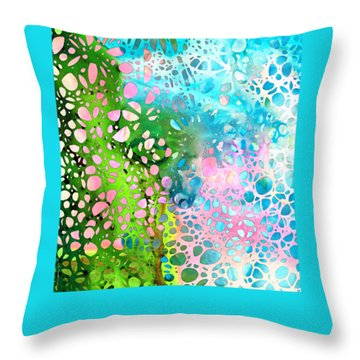Colorful Art - Enchanting Spring - Sharon Cummings Throw Pillow