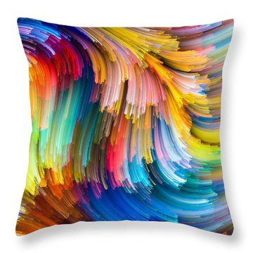 Colorful Beauty Throw Pillow by Karen Showell
