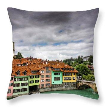 Colorful Bern Switzerland  Throw Pillow