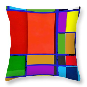Colorful Boxes Throw Pillow