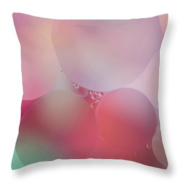 Throw Pillow featuring the photograph Colorful Bubbles 2 by Elena Nosyreva