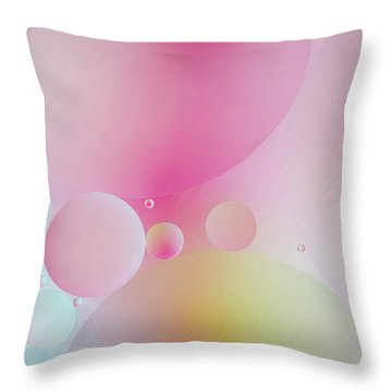 Throw Pillow featuring the photograph Colorful Bubbles by Elena Nosyreva