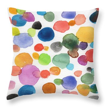 Bubbles Throw Pillows