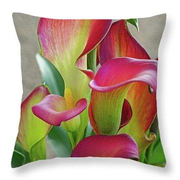 Colorful Calla Lillies Throw Pillow