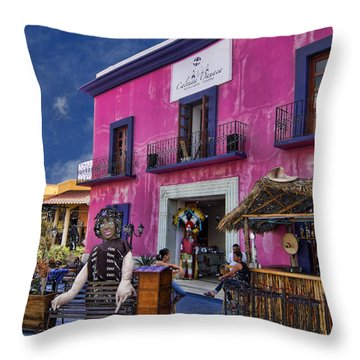 Colorful Cancun Throw Pillow by Douglas Barnard