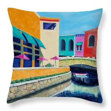 Colorful Cancun Throw Pillow