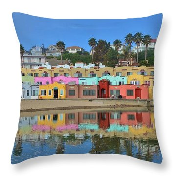 Colorful Capitola Venetian Hotel Throw Pillow