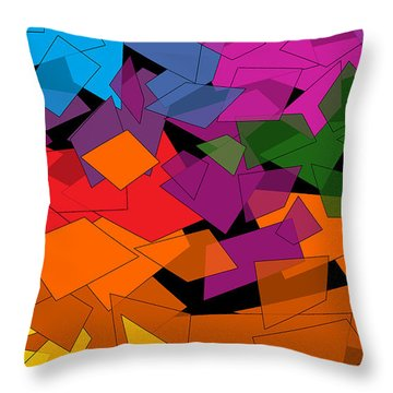 Colorful Chaos Two Throw Pillow by Val Arie