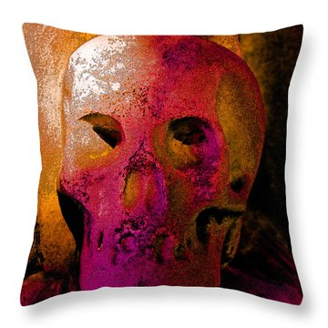 Colorful Character Throw Pillow by Valerie Fuqua