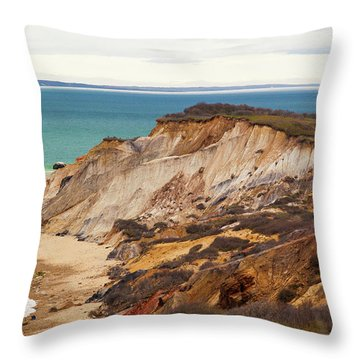 Throw Pillow featuring the photograph Colorful Clay Cliffs On The Vineyard by Michelle Wiarda