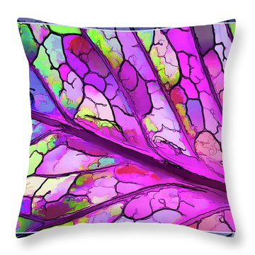Colorful Coleus Abstract 3 Throw Pillow