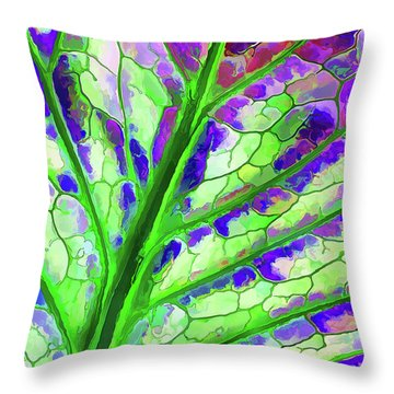 Colorful Coleus Abstract 4 Throw Pillow
