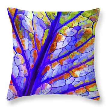 Colorful Coleus Abstract 6 Throw Pillow