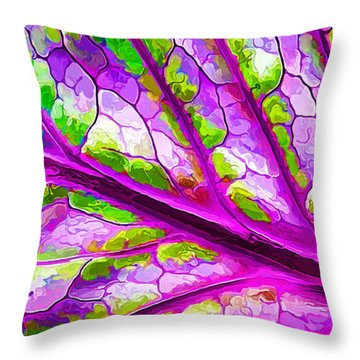 Colorful Coleus Abstract 2 Throw Pillow