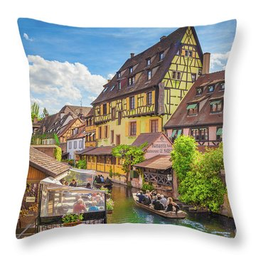Colorful Colmar Throw Pillow