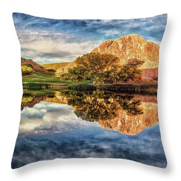 Throw Pillow featuring the photograph Colorful Colorado - Panorama by OLena Art Brand