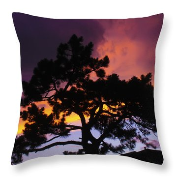 Colorful Colorado Sunset Throw Pillow by Perspective Imagery