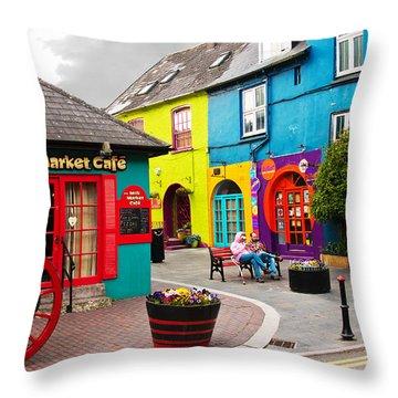 Colorful Corner Throw Pillow