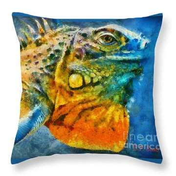 Colorful Creature  Throw Pillow