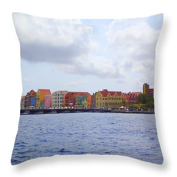 Colorful Curacao Throw Pillow