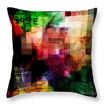Throw Pillow featuring the photograph Colorful Currency Collage by Phil Perkins