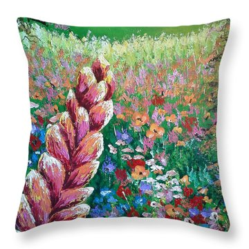 Colorful Day Throw Pillow