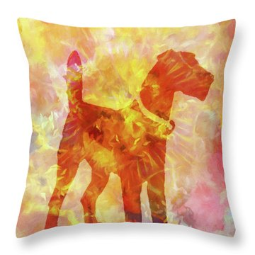 Colorful Dog Throw Pillow