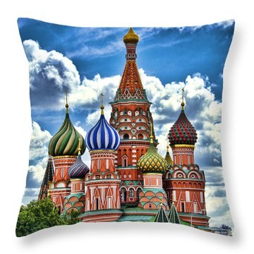 Colorful Domes Throw Pillow by Pravine Chester