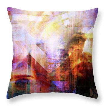 Colorful Drama Vision Throw Pillow