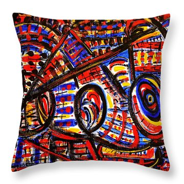 Colorful Expression 18 Throw Pillow by Natalie Holland