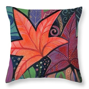 Colorful Fall Throw Pillow