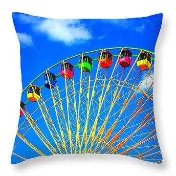 Colorful Ferris Wheel Throw Pillow
