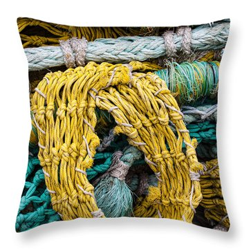 Colorful Fishing Nets Throw Pillow