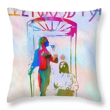 Colorful Fleetwood Mac Cover Throw Pillow