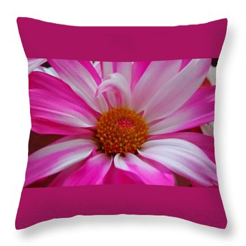 Colorful Flower Throw Pillow by Dustin Soph