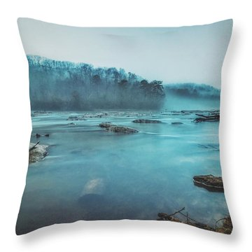 Colorful Fog Throw Pillow