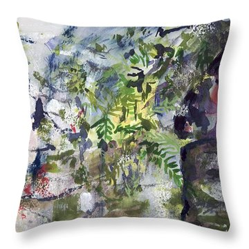 Colorful Foliage Throw Pillow
