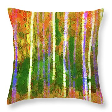 Colorful Forest Abstract Throw Pillow