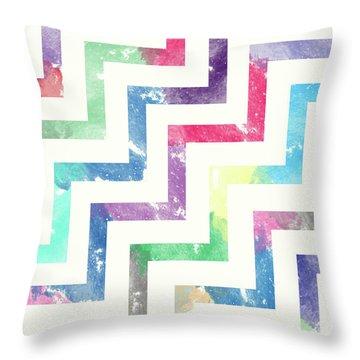 Colorful Geometric Patterns Vi Throw Pillow