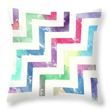 Abstract Design Drawings Throw Pillows