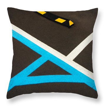 Colorful Geometry In The Parking Lot Throw Pillow