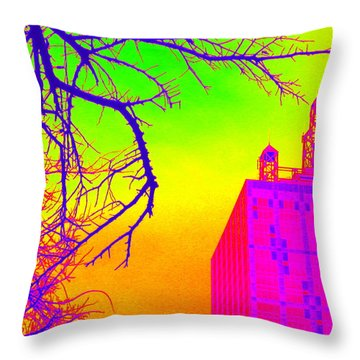 Dallas In Vivid Colors Throw Pillow
