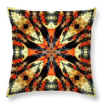 Colorful Gourds Abstract Throw Pillow