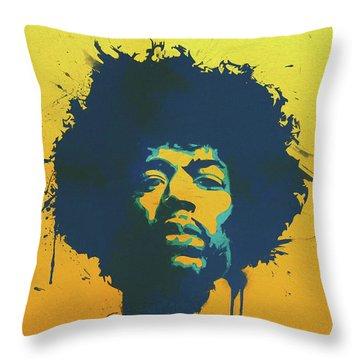 Colorful Hendrix Pop Art Throw Pillow