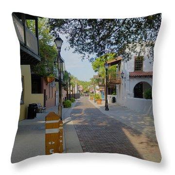 Colorful Hypolita Street Throw Pillow