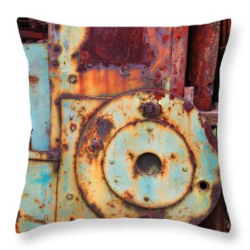Colorful Industrial Plates Throw Pillow